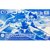 BANDAI GUN868536 GUNPLA HGBD 1/144 GUNDAM 00 DIVER DIMENSION CLEAR BUILD DIVERS