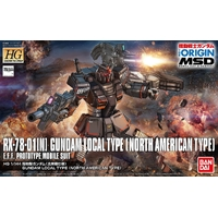BANDAI HG 1/144 RX-78 GDM LOCAL TYPE NORTH AMERICAN GUNDAM