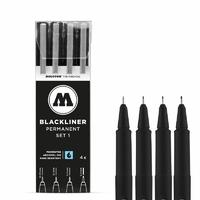 MOLOTOW BLACKLINER ETUI SET 1 4PCS