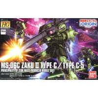 BANDAI HG 1/144 MS-06C ZAKU II TYPE C TYPE C-5 GUNDAM
