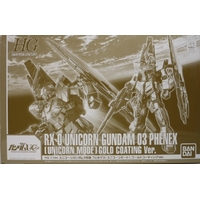 BANDAI GUN80122 GUNPLA HG 1/144 UNICORN GUNDAM 03 PHENEX UNICORNE MODE GOLD VER