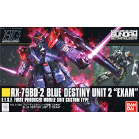 BANDAI GUN80142 GUNPLA HG 1/144 BLUE DESTINY UNIT2 EXAM