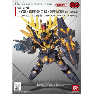 BANDAI GUNPLA SD GDM EX-STD015 UNICORN 02 BANSHEE GUNDAM