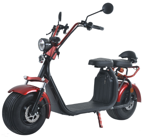 azur scooter scooter lectrique type harley rouge moteur 1500w 45km h. Black Bedroom Furniture Sets. Home Design Ideas