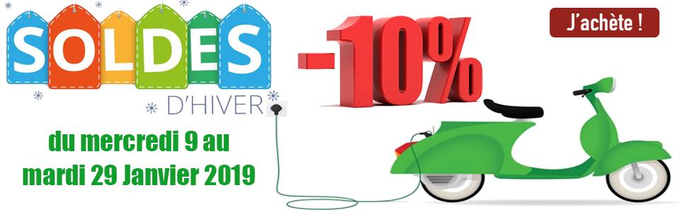 SOLDES 2019 : Scooter électrique rétro