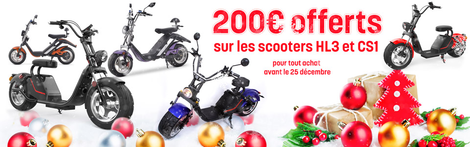 Noël 2019 : Azur Scooter CS1 et HL3
