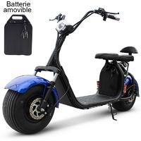 Azur Scooter électrique Bleue avec batterie démontable - 45Km/h