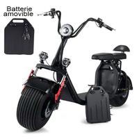 Azur Scooter avec batterie amovible : Scooter électrique 1500 Watts, vitesse 45km/h