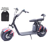 Azur Scooter Trotinette 100% électrique Fun : vitesse de 45km/h, homologué route en France