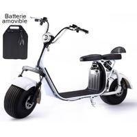 Azur Scooter : Scooter électrique type Harley Blanc - Moteur 1500W 45km/h