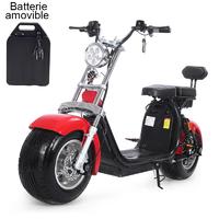 Scooter électrique Harley Rouge à Batterie amovible, livré avec carte grise FR