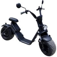 Caigiees 2.0 : Citycoco électrique Noir, vitesse 45km/h, carte grise FR