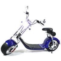 Scooter électrique type Harley Bleu - homologué route française