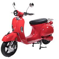 Un look VESPA pour ce scooter E-Azur Retro 50 électrique Rouge Vif