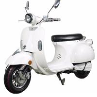 Un look VESPA pour ce scooter électrique Blanc - 50cc SANS permis