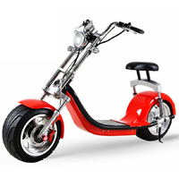 Scooter électrique type Chopper Rouge