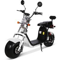 Scooter électrique blanc Citycoco au look Harley