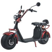 Azur Scooter : Scooter électrique type Harley Rouge - Moteur 1500W