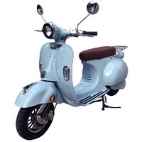 Scooter électrique Lycke bleu roma, certificat d'immatriculation inclus