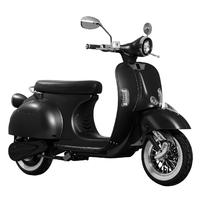 E-Azur Rétro 50 : Un Look VESPA pour ce scooter électrique Noir