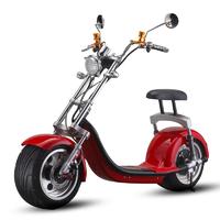 Scooter électrique type Chopper Rouge - vitesse 45km/h et autonomie 40km