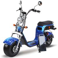Azur Scooter HR8 : Nouveauté 2019, scooter électrique Double place Bleu Fashion