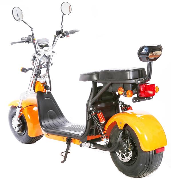 scooter lectrique citycoco jaune batterie amovible 50km h. Black Bedroom Furniture Sets. Home Design Ideas