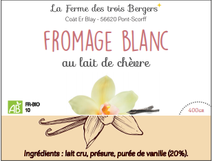 Fromage blanc vanille