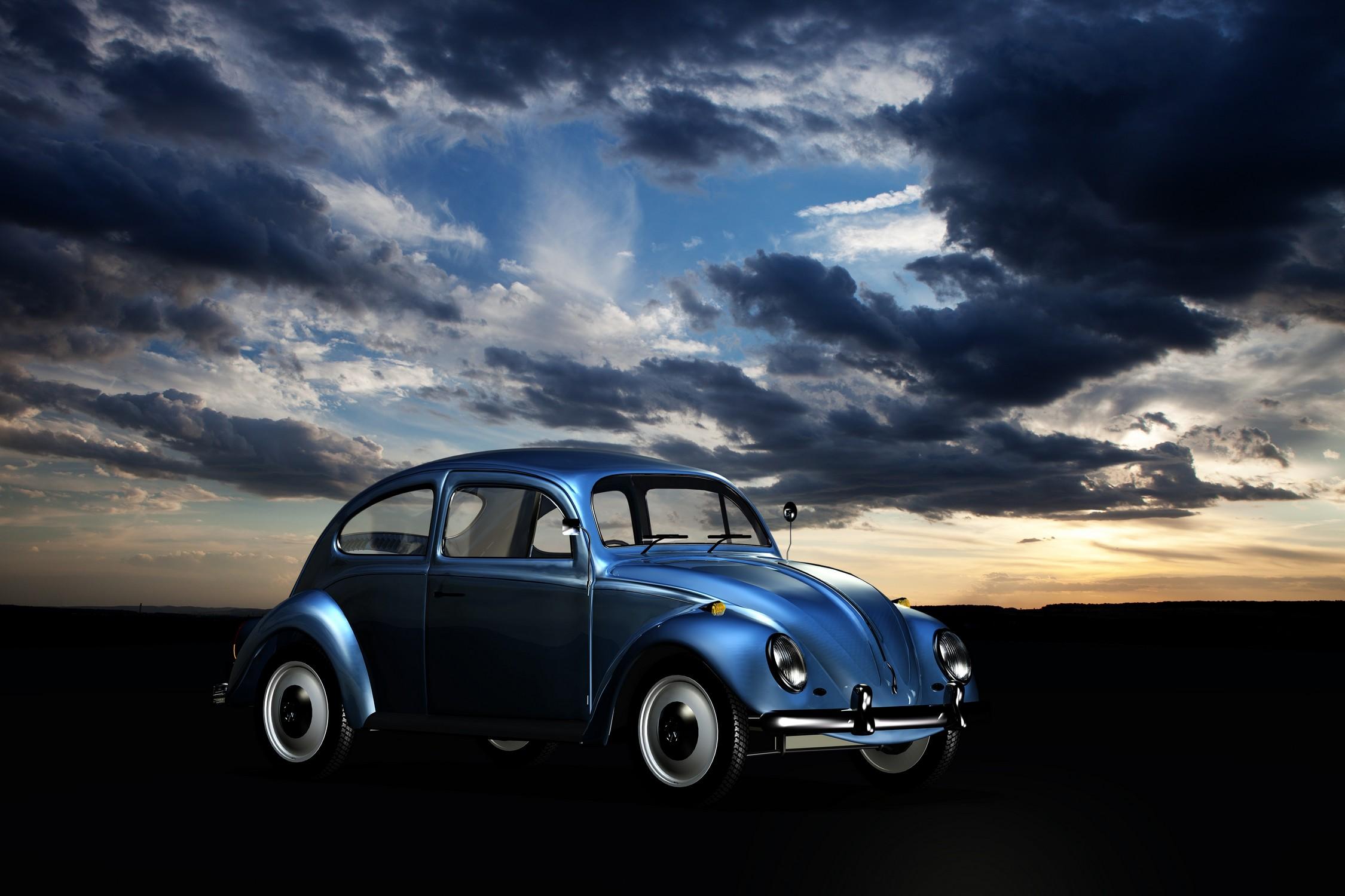 volkswagen bleu nuit