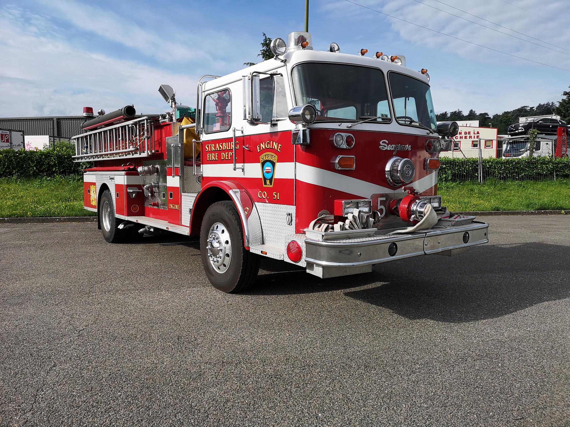 Camion pompier SAGRAS