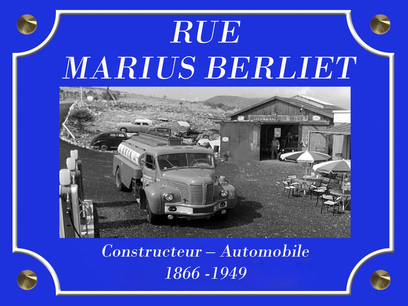 Plaque de Rue Marius Berliet ok