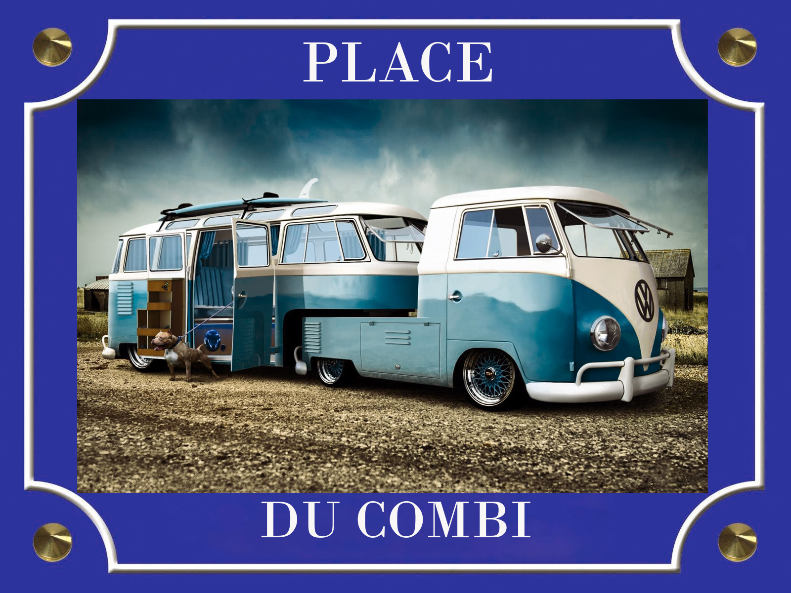PLACE DE LA COX & COMBI BLEU
