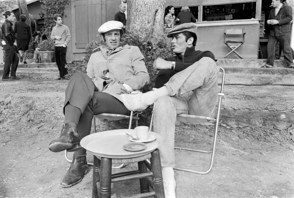 Belmondo & Delon autour 1 café