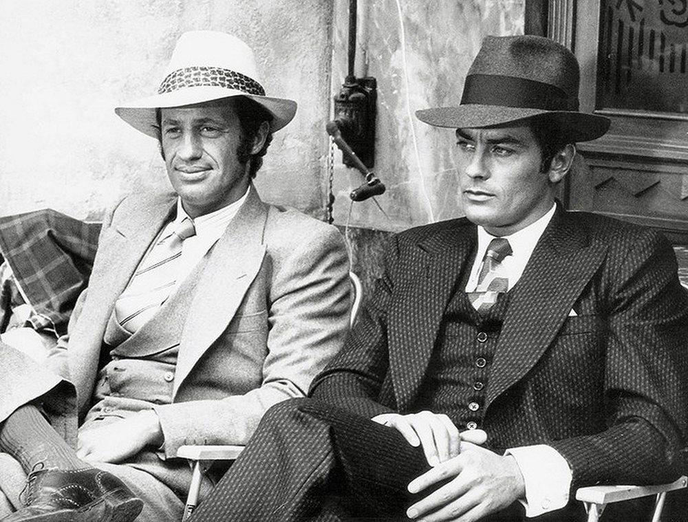 Delon & Belmondo dans Borsollino