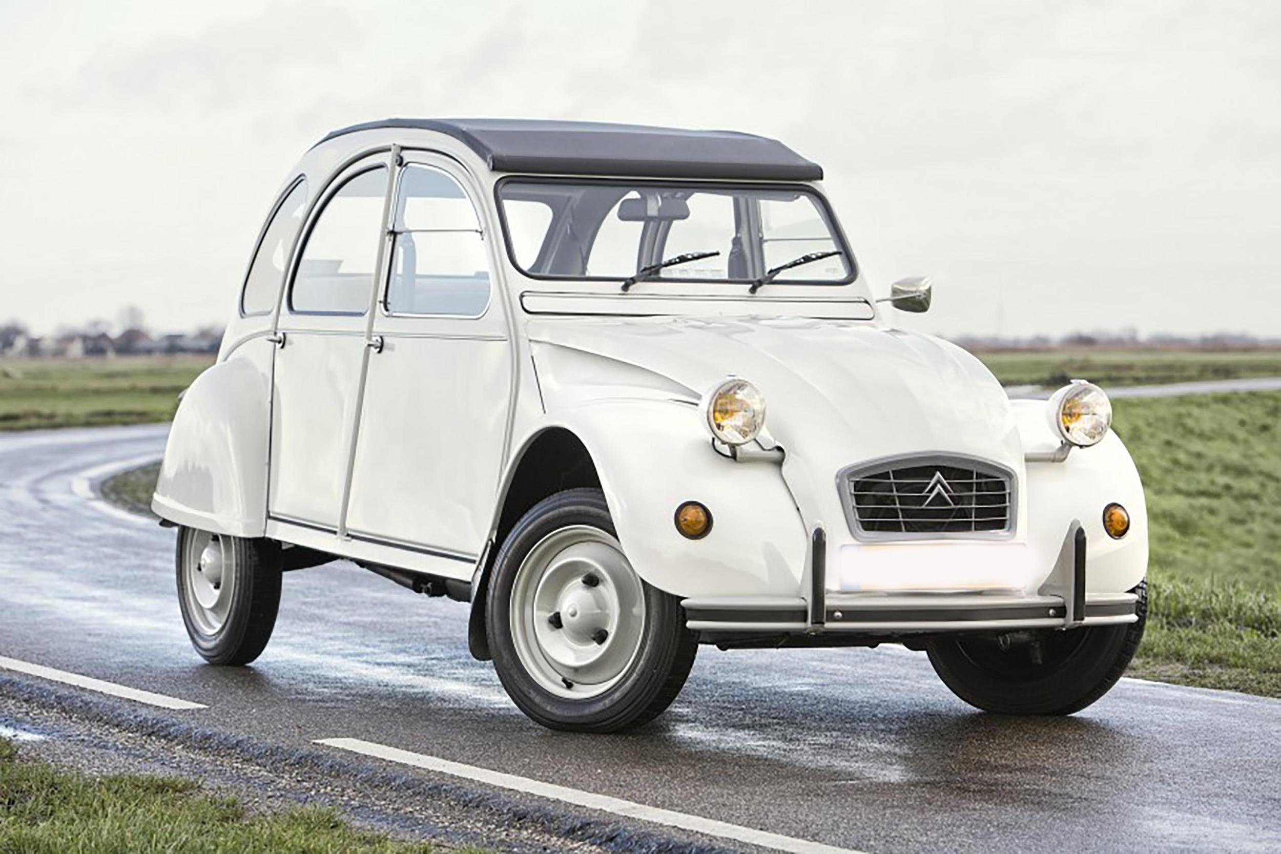 Plaque Métal Citroën 2 CV Blanche
