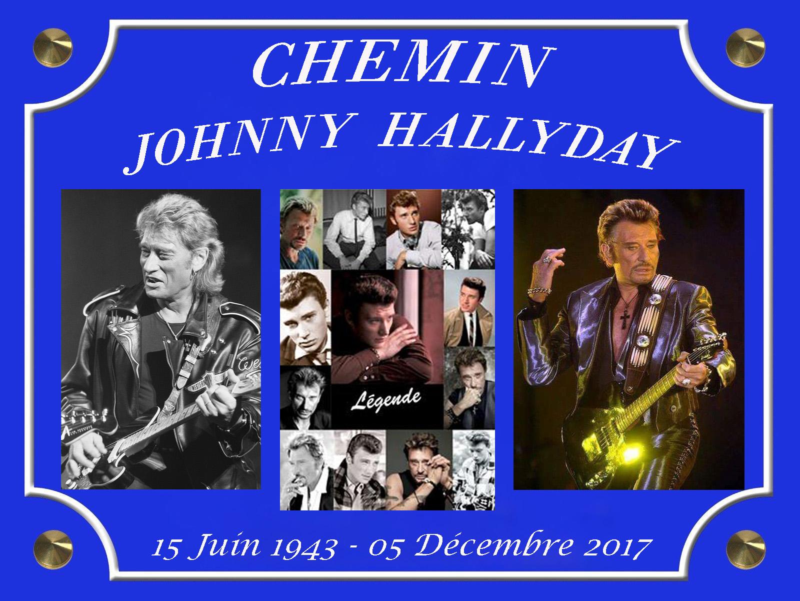 Plaque de Rue Chemin Johnny Hallyday