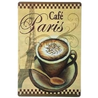 Plaque vintage-Cafe-Paris