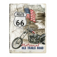Plaque-metal-route-66-national-old-trails-road