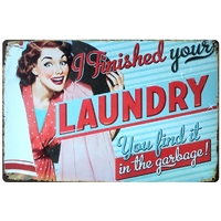 plaqueVintage Pin Up Laundry