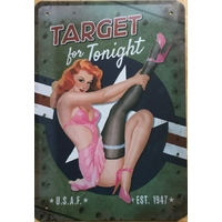 Plaque Vintage TARGET For Tonight USA SEXY