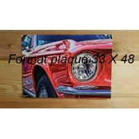Votre Plaque Format Portrait   33 X 48
