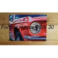 Votre Plaque Format Portrait   20 X 30