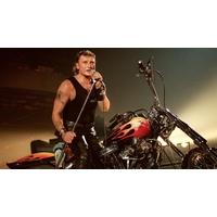 Johnny Hallyday sur Harley Davidson en concert