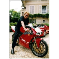 Johnny Hallyday moto Ducati
