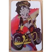 Magnét Betty Boop moto Bleu