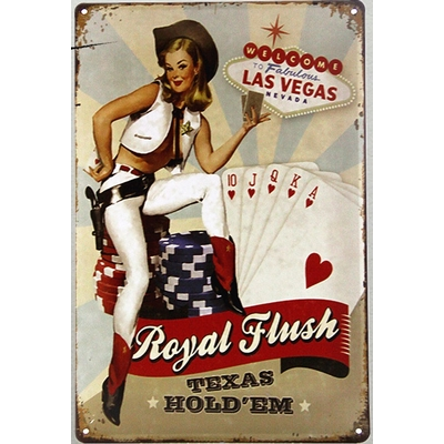 Plaque Royal Flush Texas Hold Em
