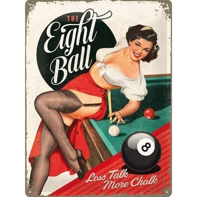 pin-up sur un billard