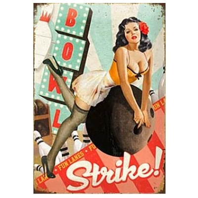 Plaque pin-up-sexy strike