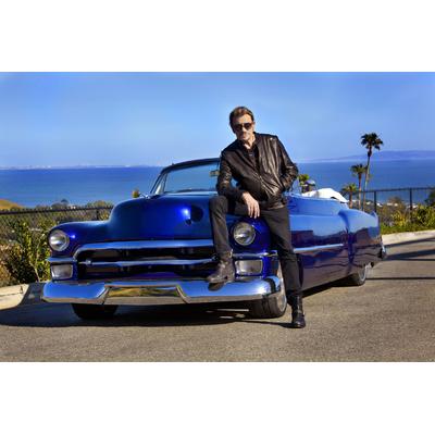 Plaque Métal Johnny Hallyday Cadillac
