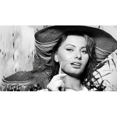 Plaque Métal Sophia Loren